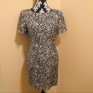LIZ CLAIBORNE Floral Lined Sleeveless A-Line Dress